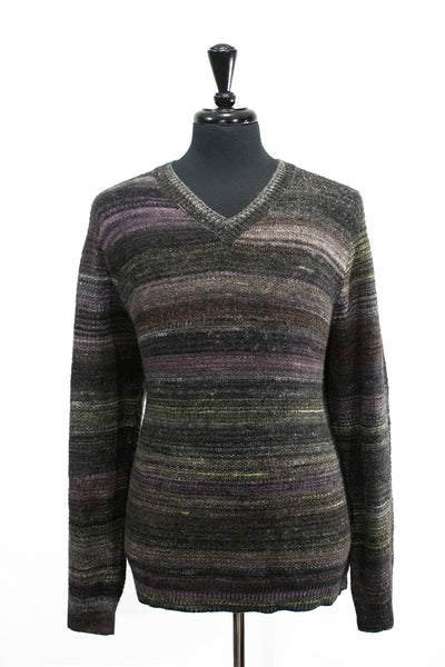Robert Graham Grey Mix V-Neck Sweater. Luxmrkt.com menswear consignment Edmonton