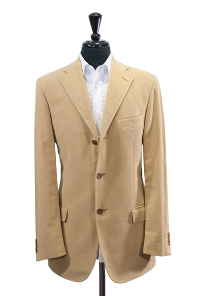Pal Zileri Concept Light Brown Ribbed Cotton Twill Blazer