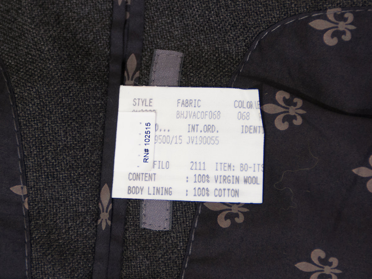 John Varvatos Grey Tweed Wool Blazer for Luxmrkt.com menswear consignment Edmonton