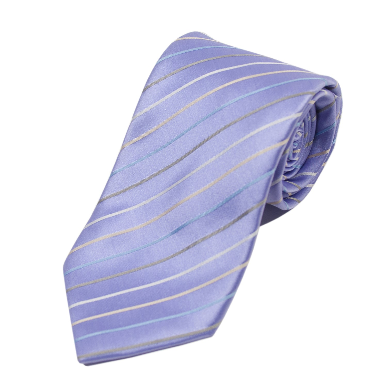 Altea Milano Lilac Striped Cotton Tie