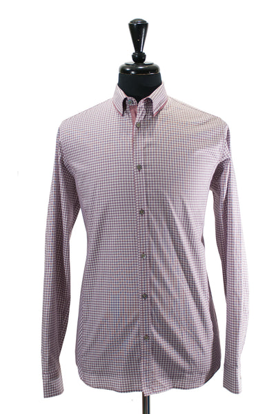 Ted Baker Brown Check Cotton Shirt