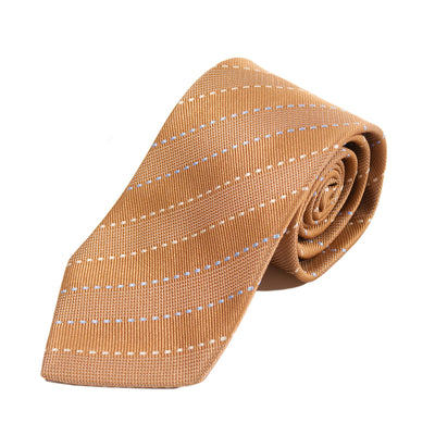 Dormeuil Brown Striped Handmade Silk Tie