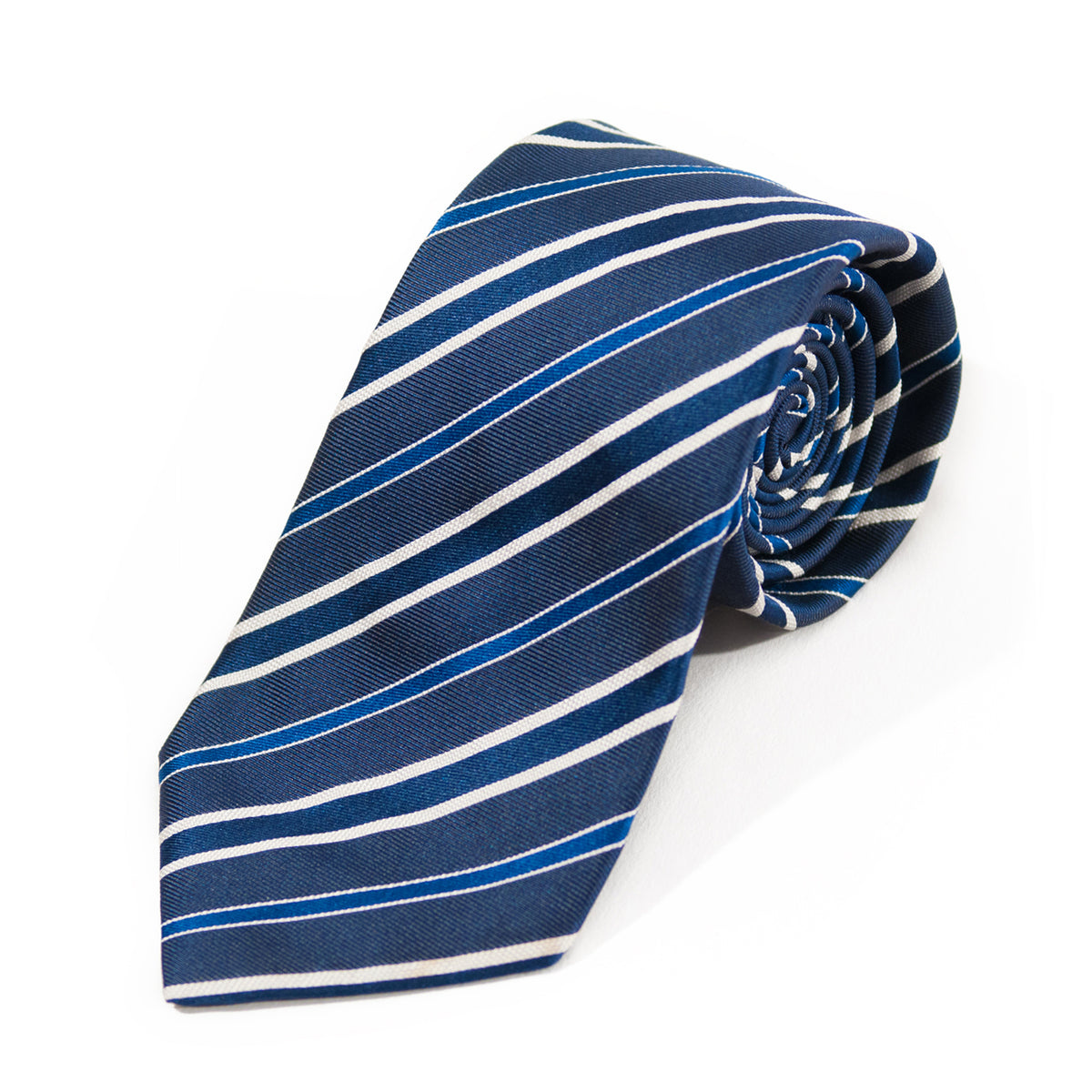 Hugo Boss Selection Blue Striped Silk Tie