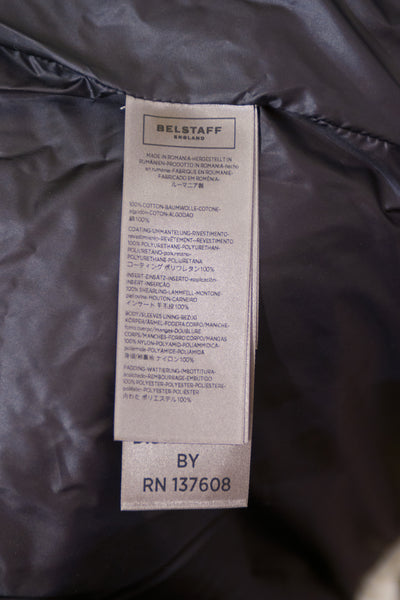 Belstaff Montfield Shearling Trim Multi-Pocket Coat in Mist Beige