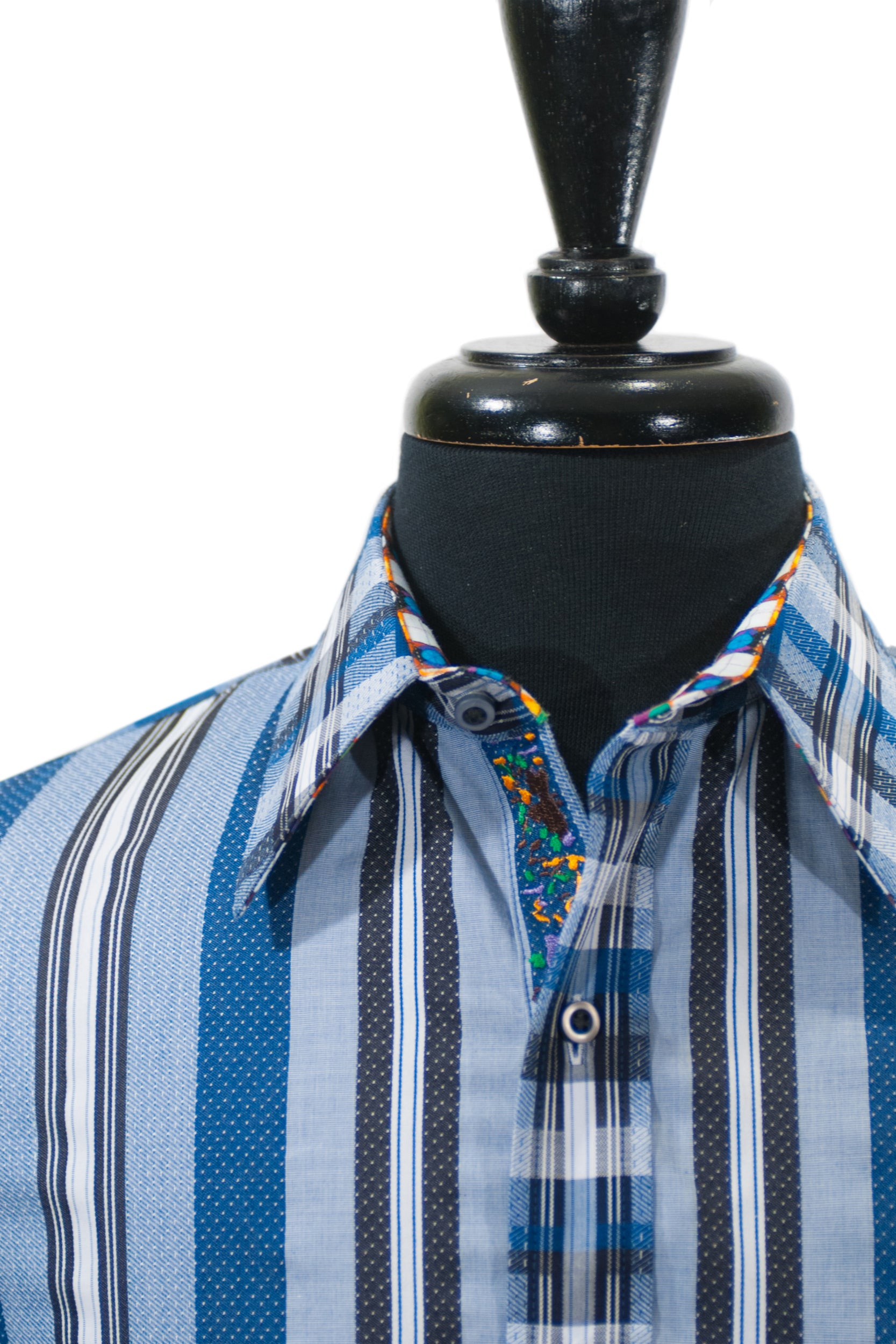 Robert Graham Bold Blue Striped Shirt
