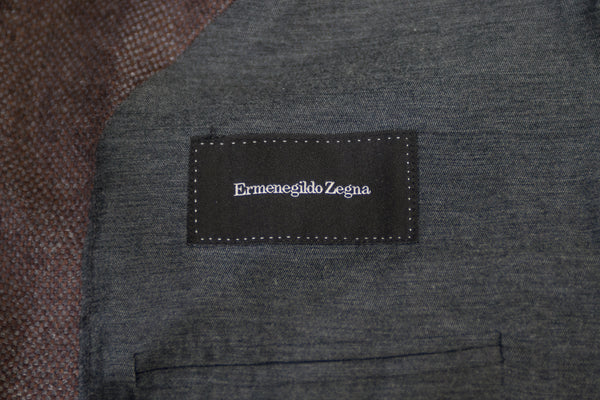Ermenegildo Zegna Brown Silk Cashmere Fairway Jacket Blazer