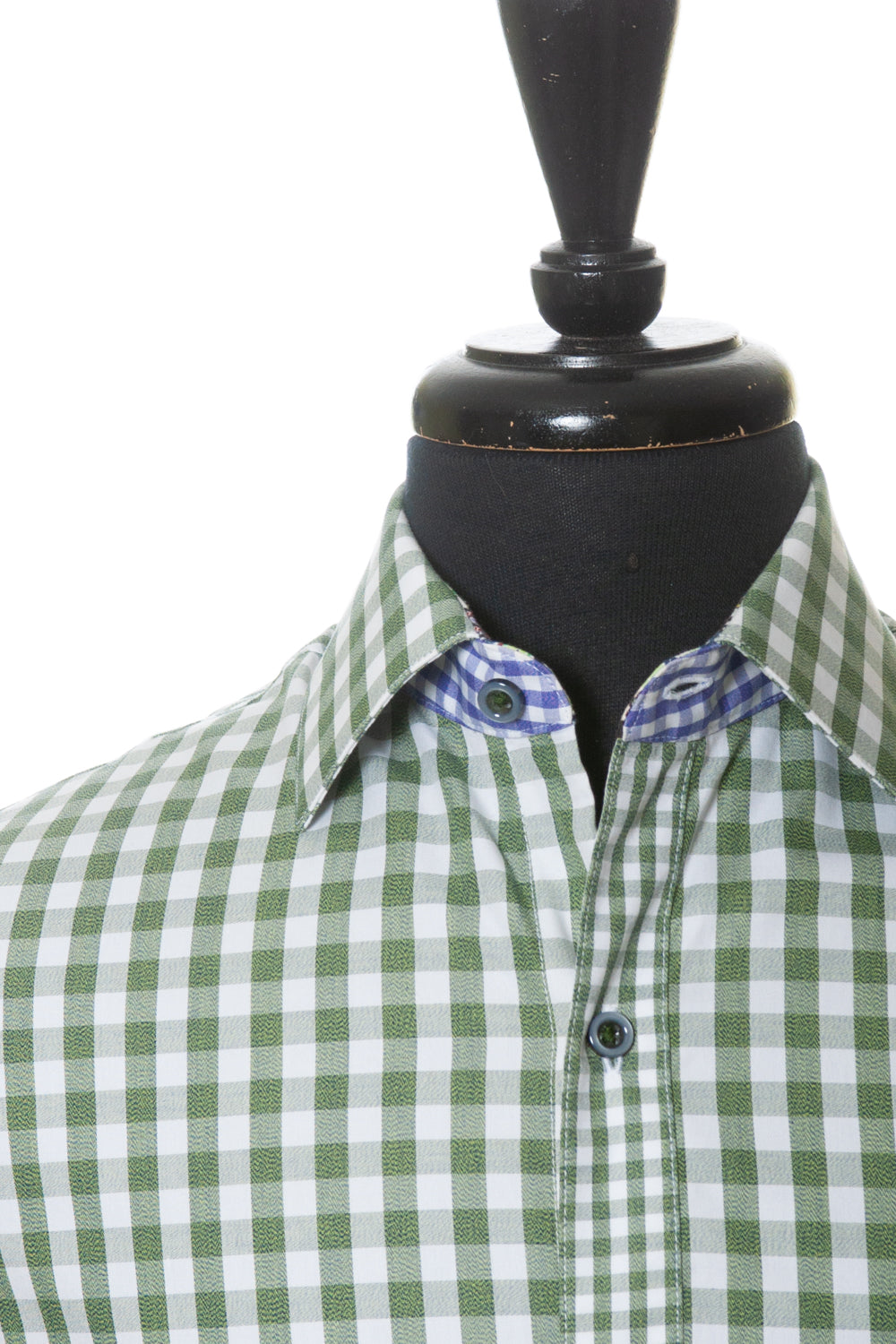 Robert Graham Bold Green Check Cotton Sport Shirt