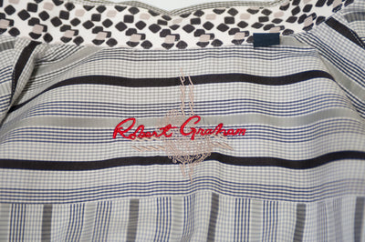 Robert Graham Grey Striped Sport Shirt