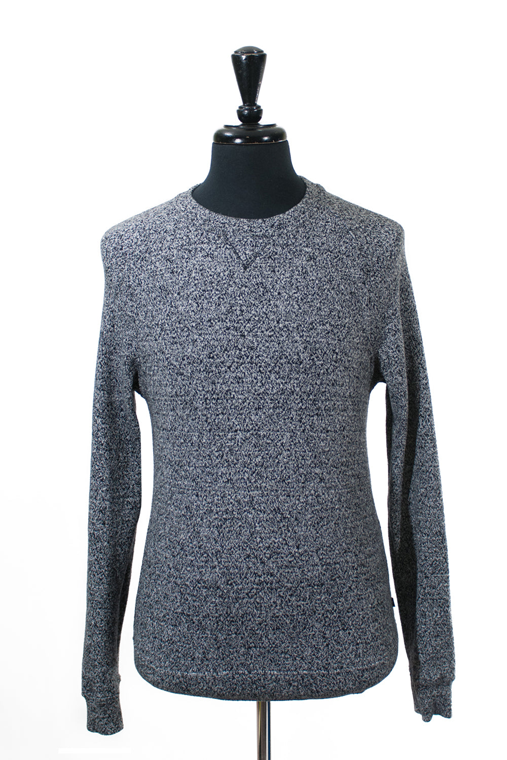 J.Lindeberg Marled Grey Cotton Blend Sweater. Luxmrkt.com menswear consignment Edmonton.