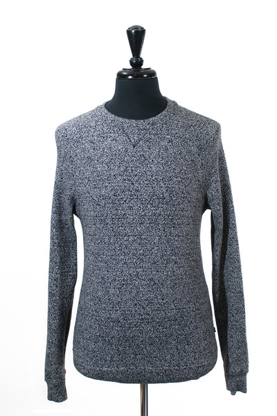 J.Lindeberg Marled Grey Cotton Blend Sweater