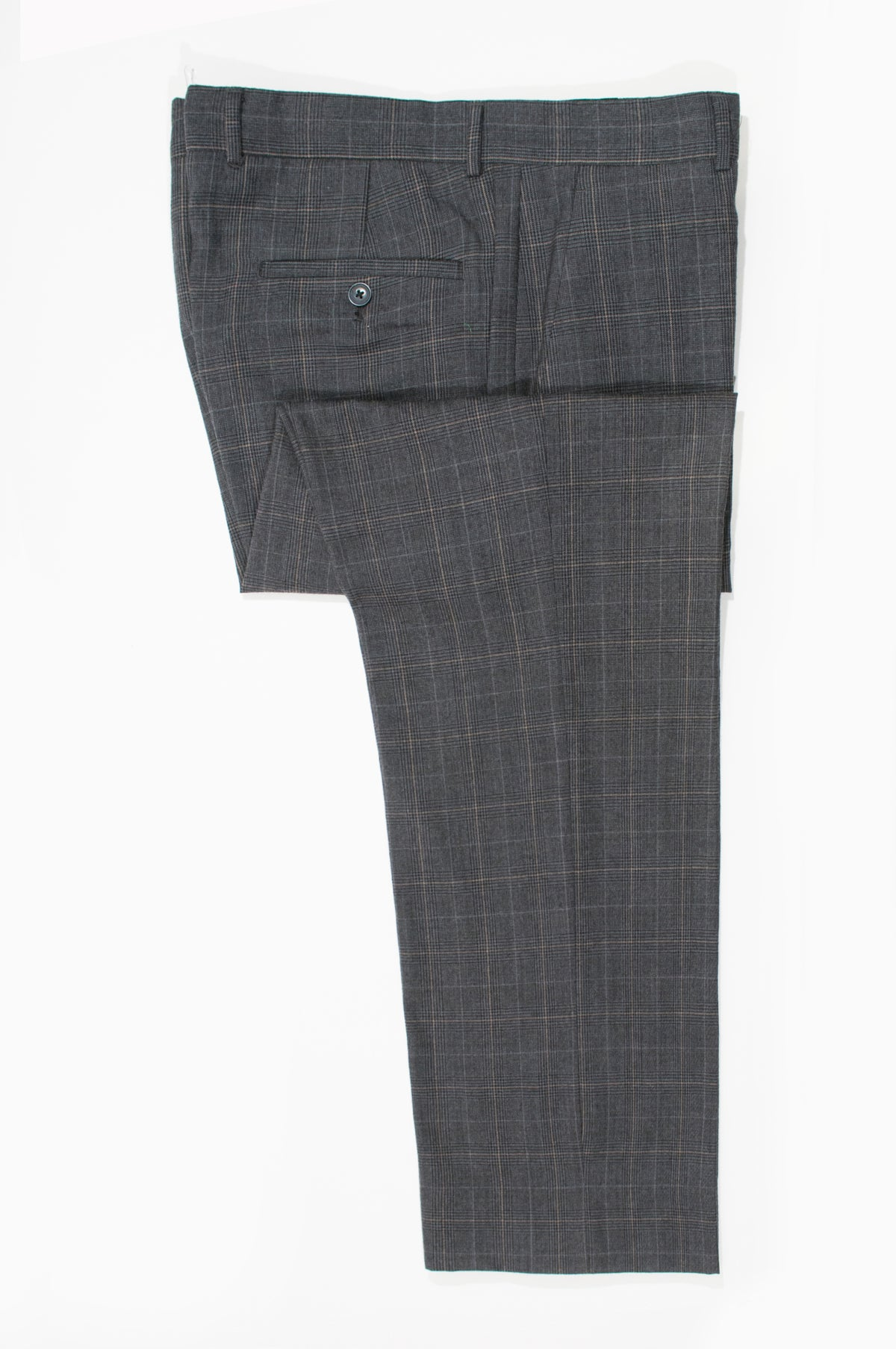 Michael Kors Grey Check Wool Trousers