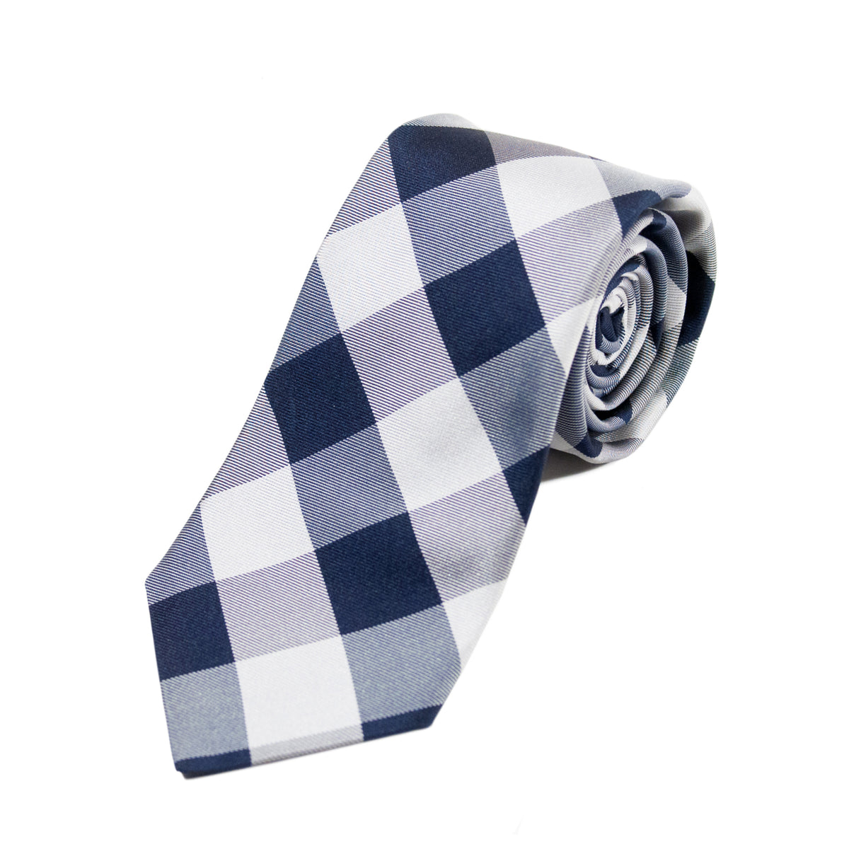 Ted Baker Light Grey Check Tie
