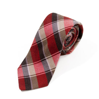 Ted Baker Dark Red Check Tie. Luxmrkt.com menswear consignment Edmonton