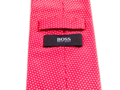 Hugo Boss Red Geometric Tie