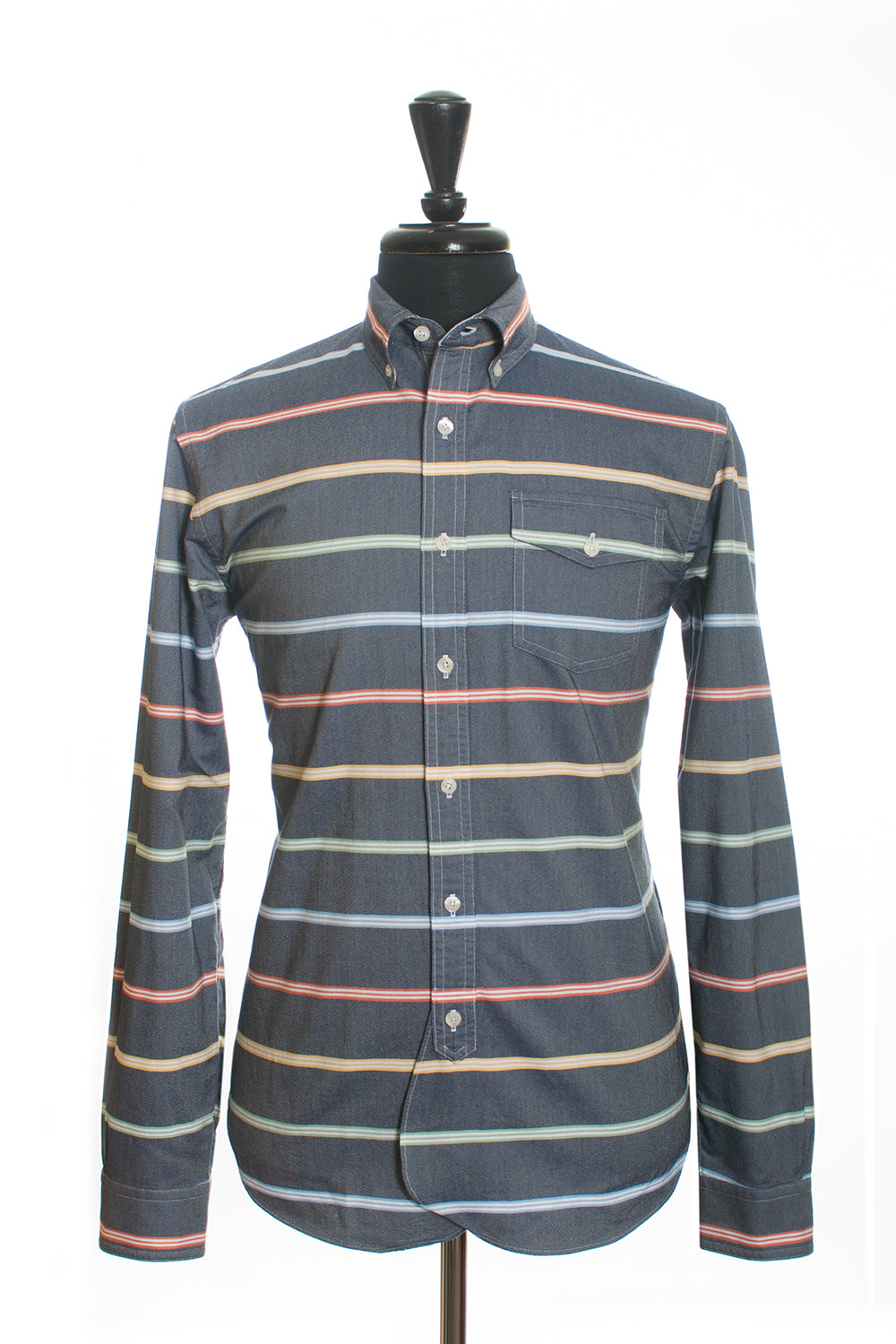 Brooks Brothers Grey Striped Sports Shirt. Luxmrkt.com Menswear Consignment Edmonton.