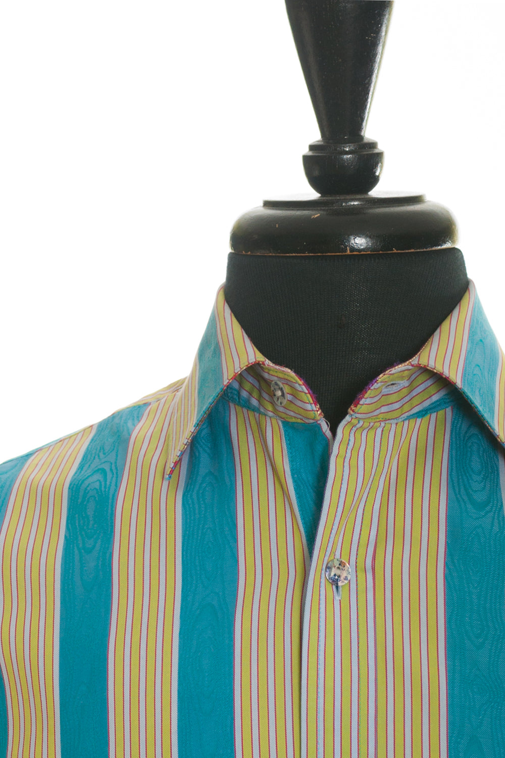 Robert Graham Bold Blue Pattern Stripe Shirt
