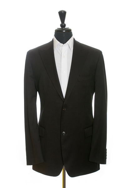 Hugo Boss Dark Brown Pinstriped Perelli Movie Super 120s Wool Suit
