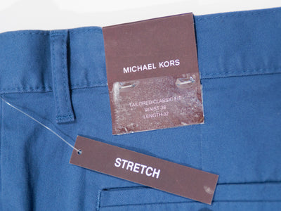 Michael Kors Blue Tailored Classic Fit Chinos