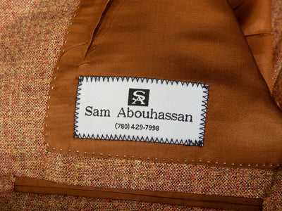 Sam Abouhassan Rust Brown Carlanda Bamboo Blazer for Luxmrkt.com Menswear Consignment Edmonton