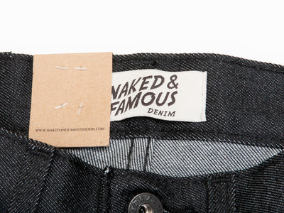 Naked & Famous NWT Ash Black 11.5oz Japanese Stretch Denim Jeans