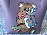 Hand Painted Kitschy Cuties Purse
