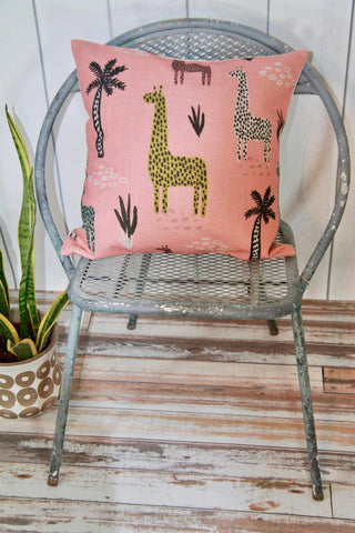 Colorful Giraffes Pillow Cover