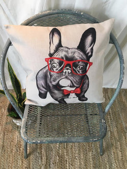 Smarty Pug Pillow Cover