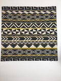 Black/Bright Gold Tribal Pillow Cover