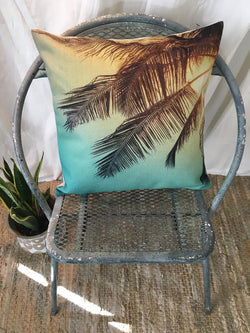 Sunset Palm Pillow Cover