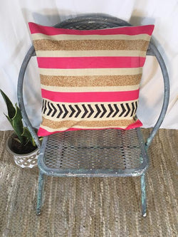 Pink Gold and Black Arrows Pillow Cover
