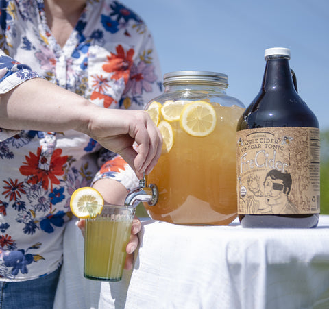 Summer afternoon refreshment at its best: Fire Cider Lemonade