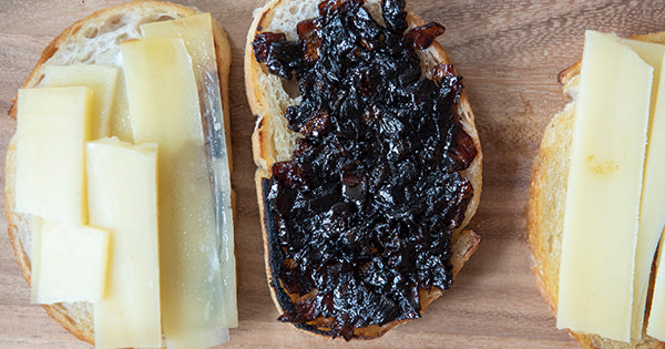 Fire Cider Onion Jam Grilled Cheese - recipe on the Fire Cider Blog