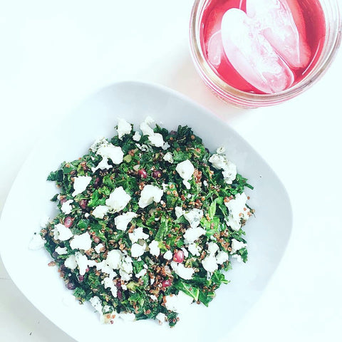 Warm Kale and Quinoa Salad on the Fire Cider Blog