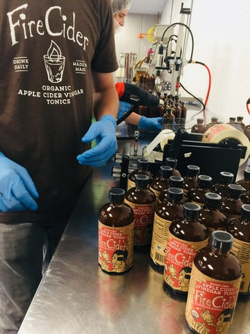 Bottling, Production, In the Berkshires, Fire Cider, Apple Cider Vinegar Tonic, ACV