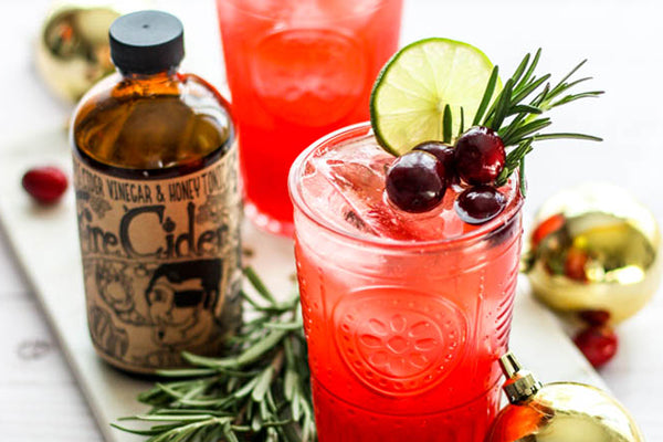 Cranberries, Rosemary and Fire Cider in the season's perfect mocktail! On the Fire Cider Blog.