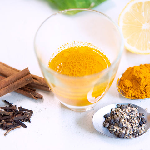 Turmeric and Black Pepper Detox Shots with Fire Cider
