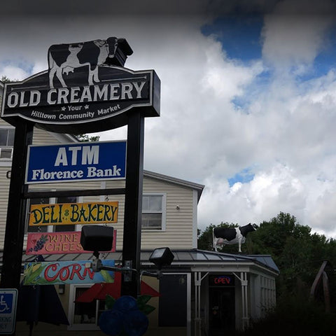 The Old Creamery Co-op in Cummington MA - you can't miss the big cow on the roof!