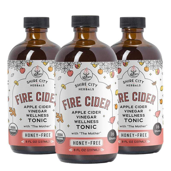 Fire Cider | Triple Pack | 8 oz | Honey-Free | Apple Cider Vinegar and Spice Tonic