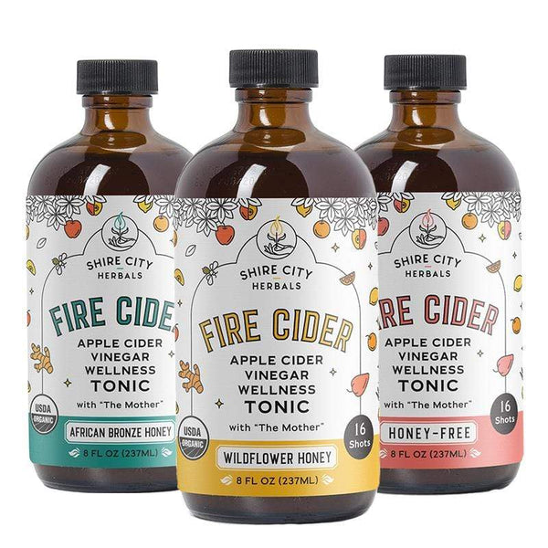 Fire Cider | Triple Pack | 8 oz | Sampler | Apple Cider Vinegar Tonics