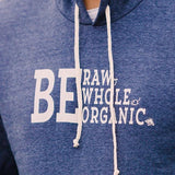 Fire Cider unisex hoodie, navy, front detail
