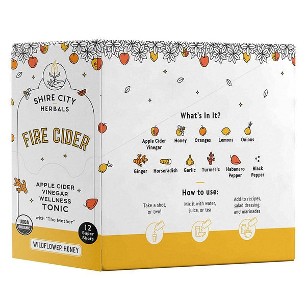 Fire Cider | 1 oz Super Shot | 12 pack | Wildflower Honey | Apple Cider Vinegar and Honey Tonic