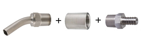 Fermenter fittings combo