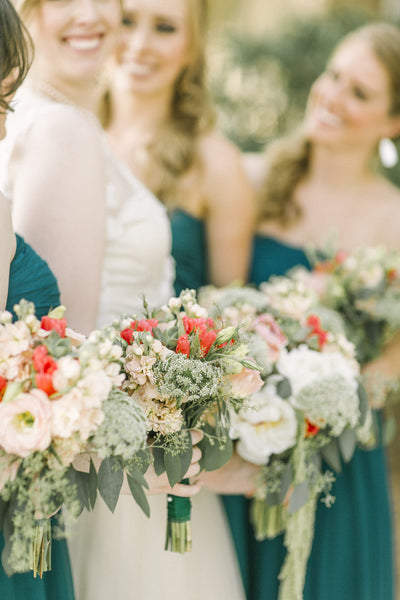 Coral & Sage Bouquet - The Blooming Idea Florst - The Woodlands, Texas