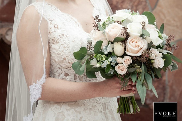 Blush and white organic bouquet - The Blooming Idea Florst - The Woodlands, Texas