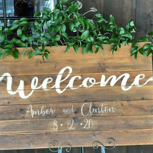 Welcome Sign Greenery