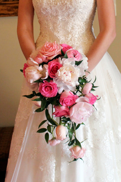 Pink Cascade Bouquet - The Blooming Idea Florst - The Woodlands, Texas