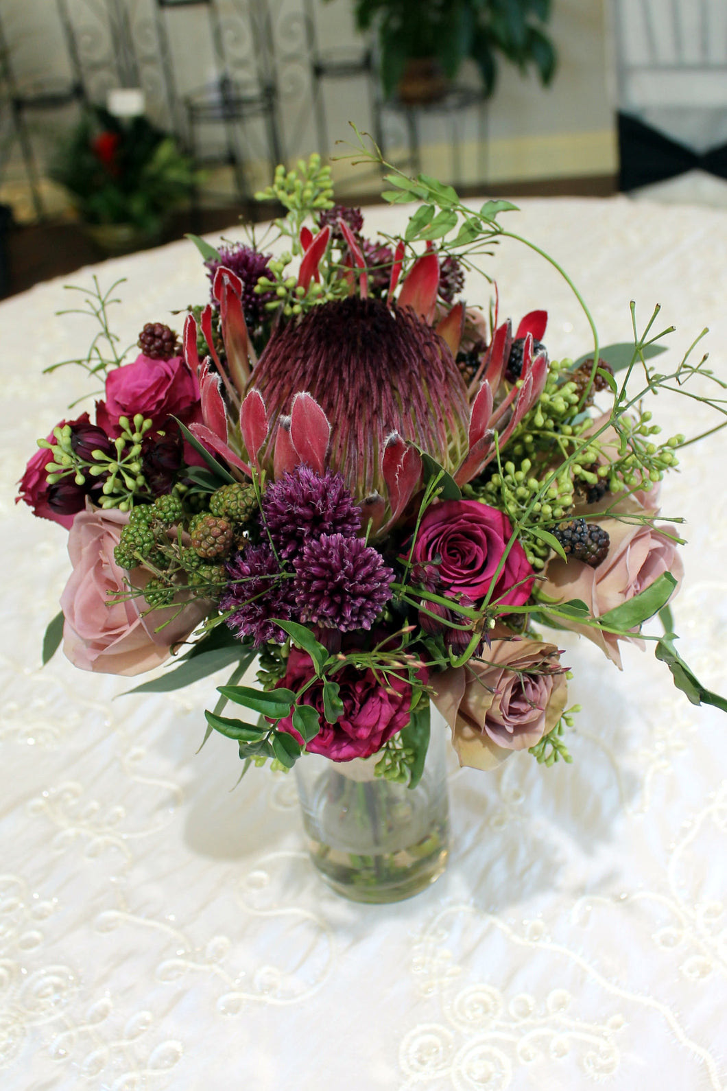 Marsala Protea Bouquet - The Blooming Idea Florst - The Woodlands, Texas