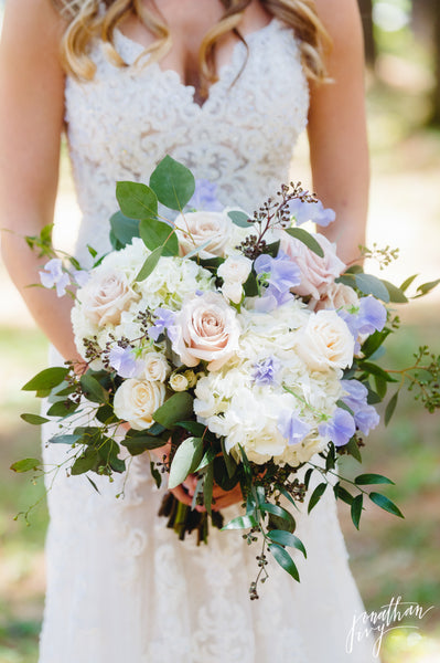 Blush, ivory and lavender bouquet - The Blooming Idea Florst - The Woodlands, Texas