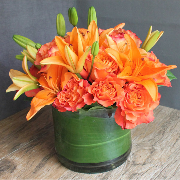 Hot Orange - The Blooming Idea Florst - The Woodlands, Texas