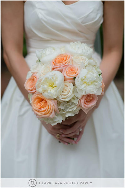 Peaches and Cream Bouquet - The Blooming Idea Florst - The Woodlands, Texas
